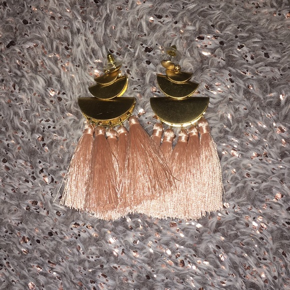 Express Jewelry - Pink Tassel earrings